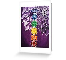 Chakras Greeting Card
