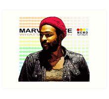 ODE TO MOTOWN: MARVIN GAYE Art Print