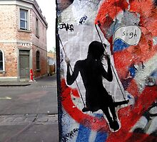 on a melbourne street....paste up by Loui  Jover