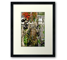Italian Fountain Framed Print