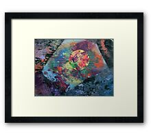 Planet radiating energy into angular space Framed Print
