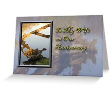 To My Wife On Our Anniversary Fish Greeting Card