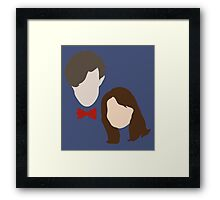 Doctor Who and Clara Oswin Oswald Framed Print