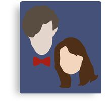 Doctor Who and Clara Oswin Oswald Canvas Print