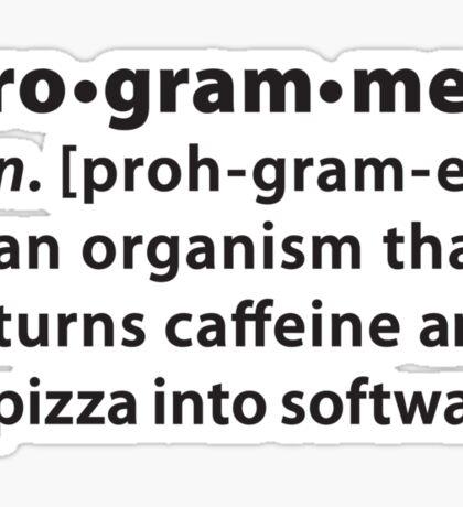 Programmer dictionary definition Sticker