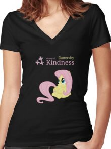 Fluttershy - Element of Kindness Women's Fitted V-Neck T-Shirt