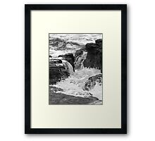 A tempestuous sea Framed Print