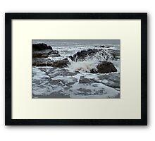 And waves crash... Framed Print