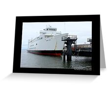 Anchored Park City Ferry To Bridgeport, Connecticut - Port Jefferson, New York Greeting Card