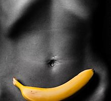 Banana on her belly by Jes Roger Petersen