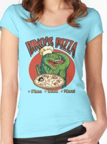 Dino's Pizza Women's Fitted Scoop T-Shirt