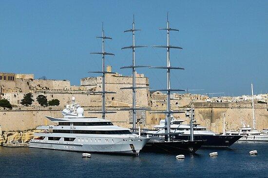 Luxury Yachts, Valletta, Malta by Trish Meyer