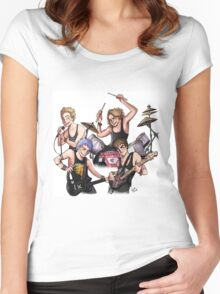 The Band 2 Women's Fitted Scoop T-Shirt