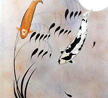 Koi Hikarimono Utsurimono Chinese good luck by Koi-Paintings