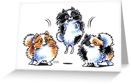 Love to Parti Pomeranians by offleashart