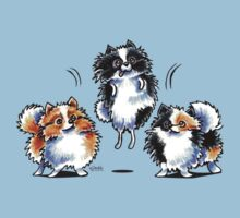 Love to Parti Pomeranians Kids Tee
