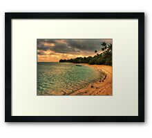 Coconut bay sunset Framed Print