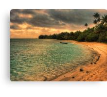 Coconut bay sunset Canvas Print