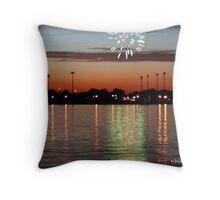 Fireworks Over Reynolds Throw Pillow
