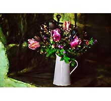 Flowers On The Hearth Photographic Print