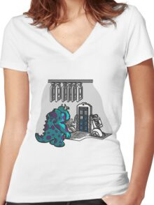 Doctor Sulley Women's Fitted V-Neck T-Shirt