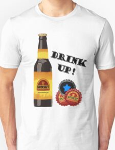 Sunset Sarsaparilla Bottle T-Shirt