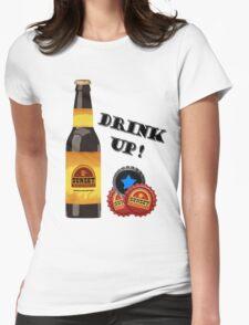Sunset Sarsaparilla Bottle Womens Fitted T-Shirt