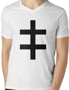 Celebritarian Corporation Black Mens V-Neck T-Shirt