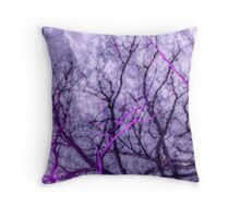 Lavender Branches Reaching to the Sky Throw Pillow