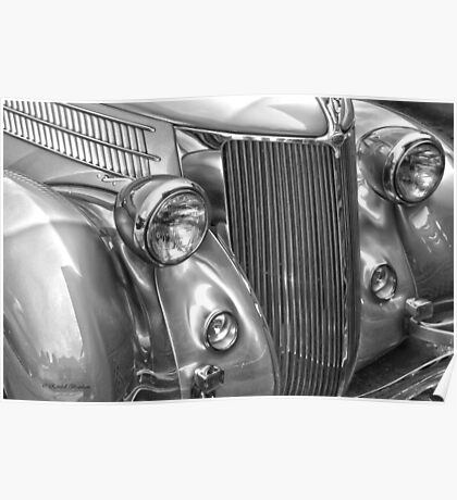Black and White Classic 36 Ford  Poster