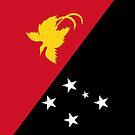 Papua New Guinea Flag by pjwuebker