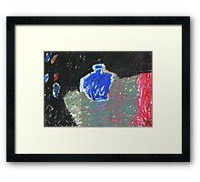 blue bottle Framed Print