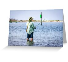Knee Deep Fishing Greeting Card