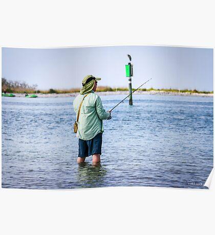 Knee Deep Fishing Poster