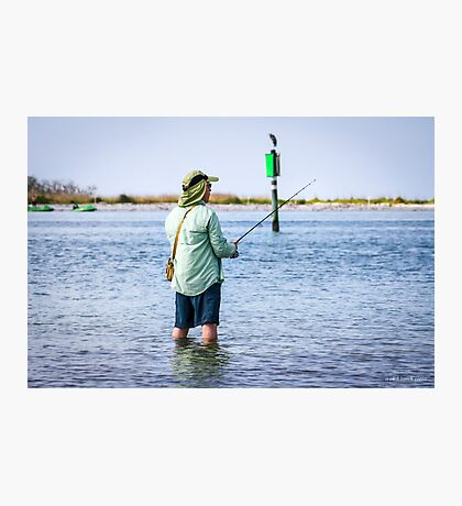 Knee Deep Fishing Photographic Print
