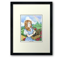 Dorothy and Toto Wizard of Oz art print Framed Print