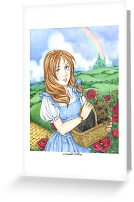 Dorothy and Toto Wizard of Oz art print by meredithdillman