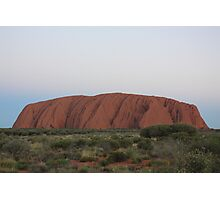 Twighlight at Uluru Photographic Print