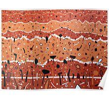 Clay Landscape Contours Poster