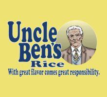 Uncle Ben's Rice. Spider-man One Piece - Short Sleeve