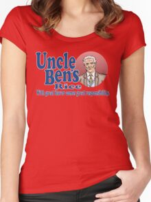 Uncle Ben's Rice. Spider-man Women's Fitted Scoop T-Shirt