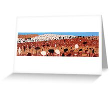 Clay Landscape Panorama Greeting Card