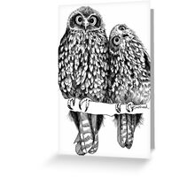 Morepork Owls Contemplate Life Greeting Card