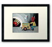 Angelic Duck Guarding the Gates to Lipstick Hell Framed Print