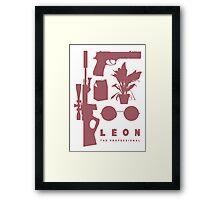 Leon - Minimal  Framed Print
