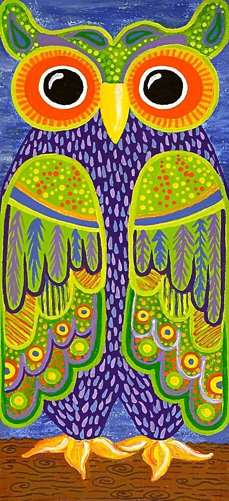 Wonderful Whimsical Owl no.1 by Lisafrancesjudd