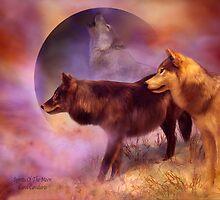 Wolves - Spirits Of The Moon by Carol  Cavalaris