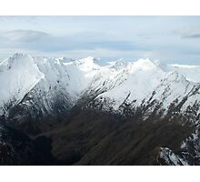Snow Capped Mountains, New Zealand Photographic Print