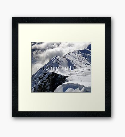 Rhone Alpes E-book Framed Print