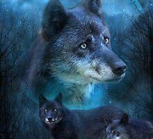 Legend Of The Blue Wolf by Carol  Cavalaris